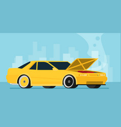broken car cartoon flat vector image