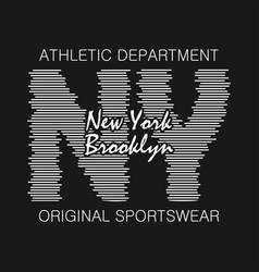Brooklyn print for t-shirt vector