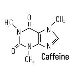 Caffeine concept chemical formula icon label text vector