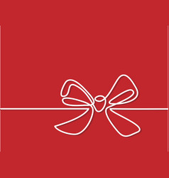 christmas holly decoration bow-knot vector image