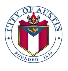 City austin seal vector