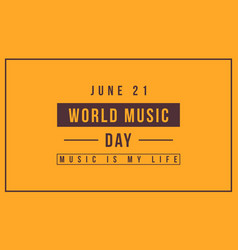 Collection background world music day vector