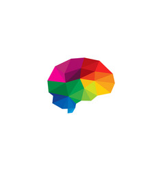 color brain logo icon design vector image