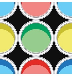 Colorful paint cans vector