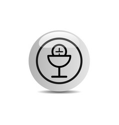 Communion icon in a button on a white background vector