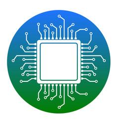 cpu microprocessor white vector image