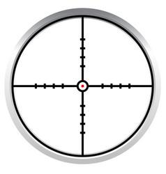 Crosshair reticle target mark editable vector