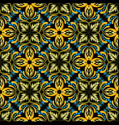 damask floral seamless pattern hand drawn vector image