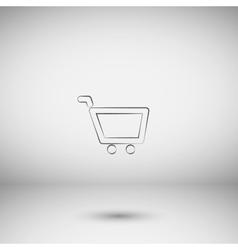 Empty shopping cart icon vector image