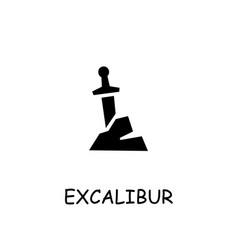 Excalibur flat icon vector