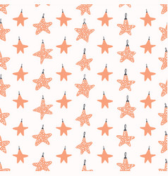 festive christmas star ornaments vector image