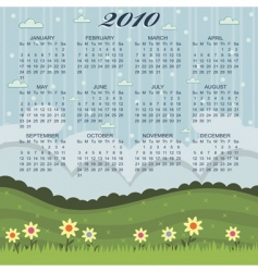 floral calender vector image