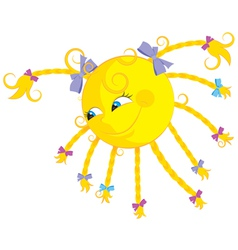 Funny cartoon sun vector