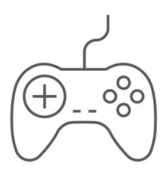 gamepad thin line icon electronic and device vector image
