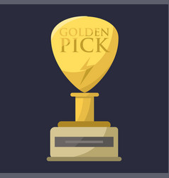 Gold rock star trophy music best entertainment win vector