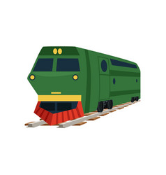 green cargo railway train locomotive vector image