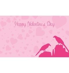 Happy Valentine Day with bird vector
