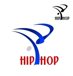 Hip hop dancer sporting emblem vector