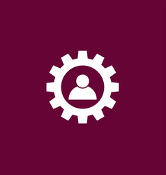 Human with gear icon simple vector