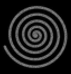 hypnosis halftone icon vector image