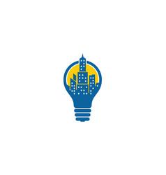 idea town logo icon design vector image