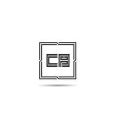 Initial letter cb logo template design vector
