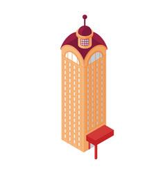 Isometric skyscraper building object or icon vector