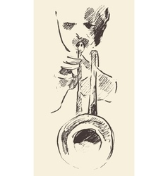Jazz poster trumpet music acoustic consept vector