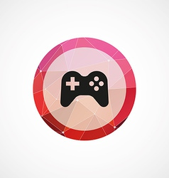 Joystick circle pink triangle background icon vector