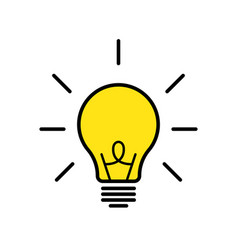 lamp or bulb isolated icon solution or ides vector image