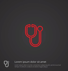 medical symbol outline symbol red on dark vector image