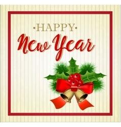 Merry Christmas greetings card vector image