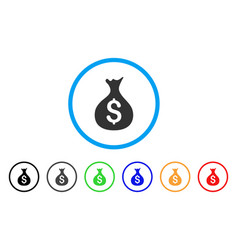 money sack rounded icon vector image