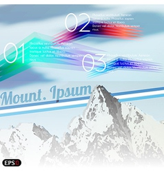 Mountain tour vector