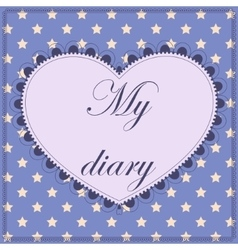 My diary cover page vector