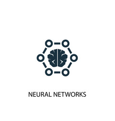 neural networks icon simple element vector image