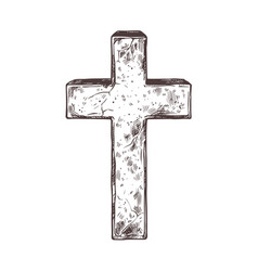 old marble stone christ cross vector image