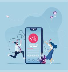 Online music entertainment concept vector