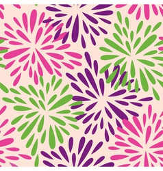 organic shape flowers vector image vector image