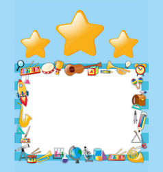 paper template with stars and instruments vector image