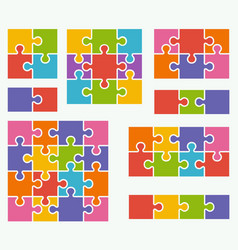 Parts of puzzles on white background vector