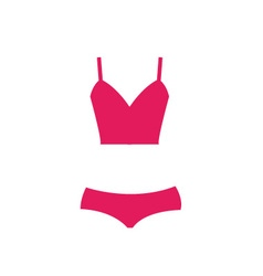 Pink swimsuit isolated vector image