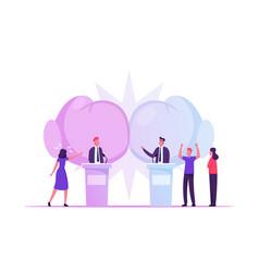 political debates pre-election campaign voting vector image