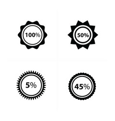 price tags label set 4 style vector image