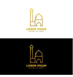 Ramadan kareem greeting with mosque vector