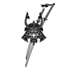 samurai 0006 vector image