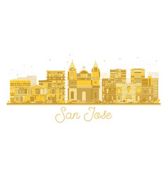 san jose costa rica city skyline silhouette vector image