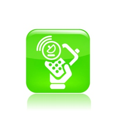 Satellite phone icon vector