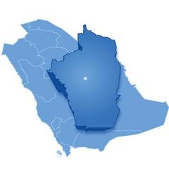 Saudi Arabia the region Al Riyadh vector
