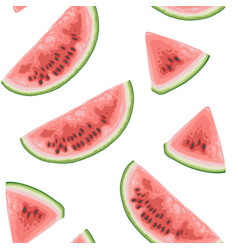seamless pattern with juicy watermelon vector image